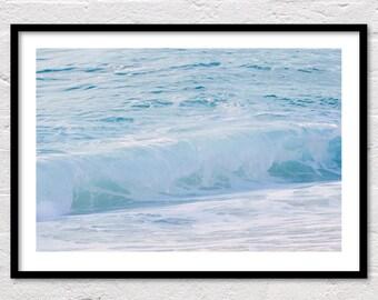 Wave Print, Ocean Waves Print, Coastal Print, Ocean Wall Art, Ocean Printable, Wave Photo, Blue Water, Ocean Photography, Digital Download