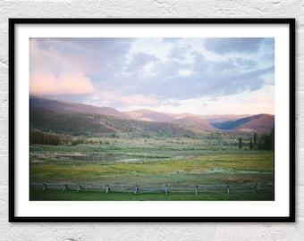 Colorado Ranch Print, Landscape Printable, Modern Farmhouse Decor, Green Wall Art, Farm Photography, Landscape Photo Print, Instant Download