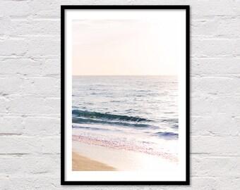 Ocean Photography Print, Ocean Print, Wave Print, Waves Art Print, Printable Wall Art, Wave Photo, Coastal Print, Blue Water, Ocean Photo