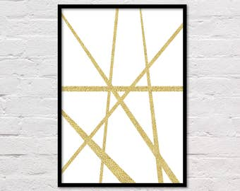 Gold Abstract Art, Large Gold Abstract, Abstract Poster, Large Abstract Printable, Abstract Print, Minimalist Art, Gallery Wall, Download
