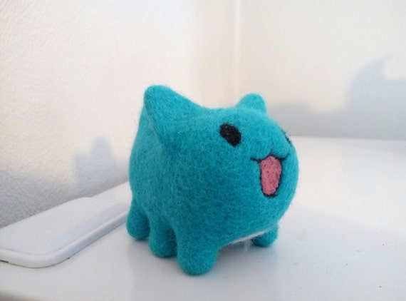 anime gifts needle felted cat cute cat sculpture geek gift etsy