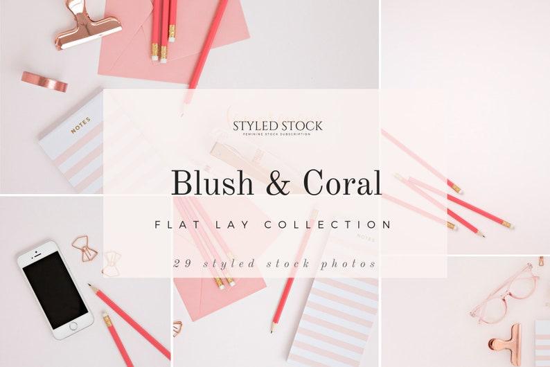 Blush & Coral Styled Stock Bundle  Stock Photo  Styled image 0