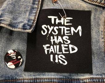 Anti-Establishment Patch, The System Has Failed Us, Guy Fawkes Punk Patch, Resistance Patch, Denim Jacket Patch, Antifa Patch, Rage Against