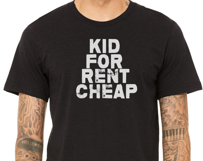 Funny And Sarcastic Tee, Kid For Rent Cheap T-Shirt, , Sarcasm T- Shirt, Gift, Vintage tee