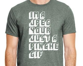 Geeky Funny Shirts, Nerdy T-Shirts, Social Media Tee, Im A Jpeg Your Just A Gif Shirt,