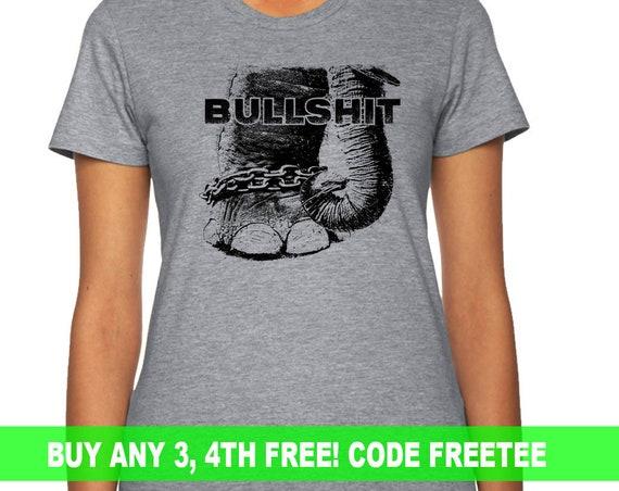 Elephant Anti Circus T-shirt, Animal Rescue, mens, women's, ladies, teen, gift