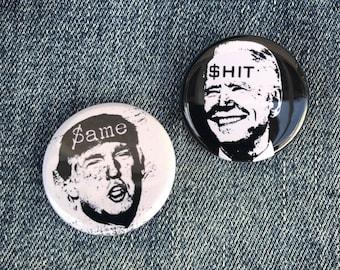 Anti Trump Button, Anti Biden Button, Resist Button, Resist, gifts, Feminist Button, Button Sets