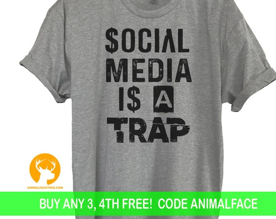 Social Media Is A Trap Shirt, Geeky Funny Shirt, Geek Shirt, Selfie Shirt, Social Media