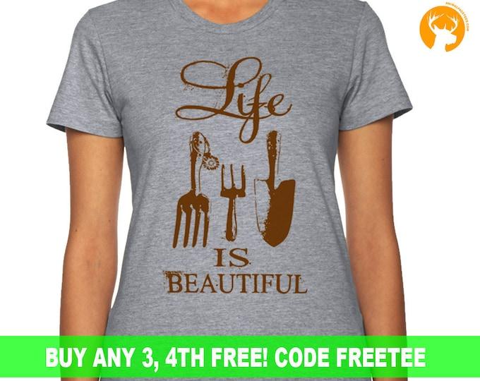 Gardening Shirt For Her, Farmer Girl Tshirt, Plant Shirt gift, Ladies Girl Womens lady farmer