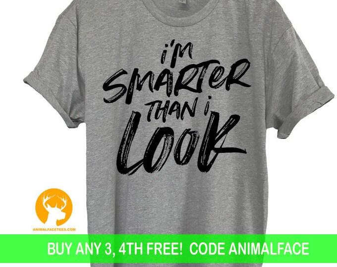 Smart Funny T-Shirt, Ladies Mens Gifts, Tee Cute Men Women Ladies Funny Birthday Present