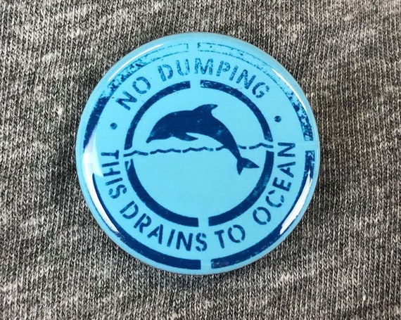 Protect our oceans Button,Sea Shepherd, No Dumping button, awareness, conservation society