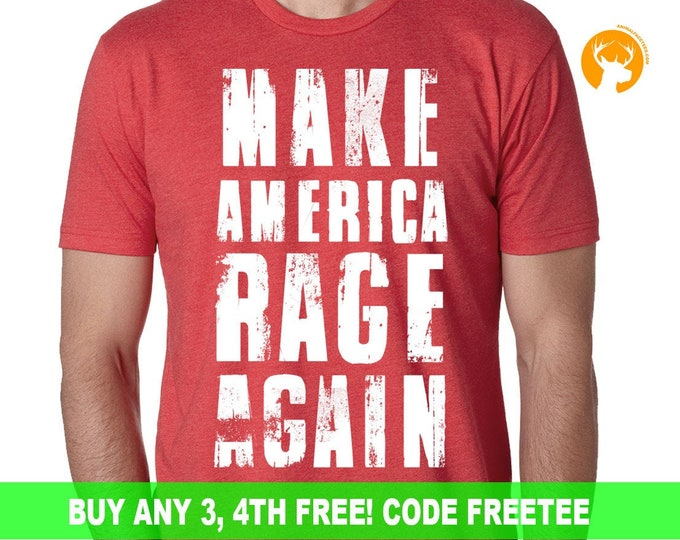 Anti Trump Tee, Make America Rage Again T-Shirt, Anti Trump Shirt, Not My President, Donald Trump, Political T-shirts, Funny Liberal Shirts