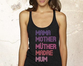 Mothers Day Gift From Daughter, Mothers Day Tank, Mum Tank, Mother Tank, Mom Tank, Grandmother Gift, Step Mom Shirt, Mom Life Tank, Mom Club