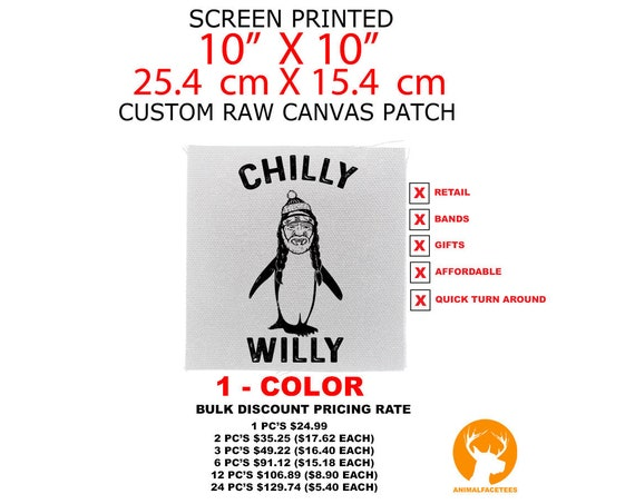 "Custom Back Patches, Personalized Canvas Patches, Customized Patch, Jacket Patch, 10"" x 10"" Patch"