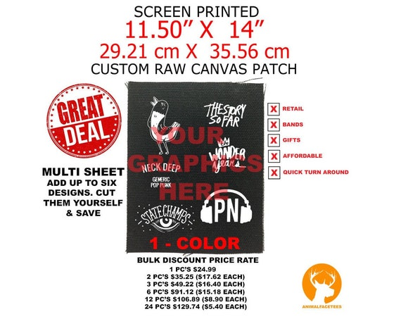 "Custom Back Patches, Personalized Cloth Patches, Customized Patch, Back Patch Design, Make Your Own, Screen Printing, 11.5"" X 14"""