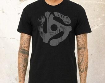 Vintage Rock T shirt, DJ Shirt for men, Vintage shirt, Music Shirt, Vinyl Records, Unisex recycled t-shirt