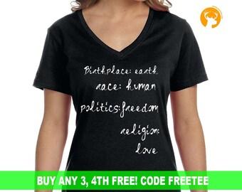 Peaceful Planet Shirt, Earth Friendly Shirt, Women Shirt, Social Shirt, Positive Shirt, Ladies Shirt, Love Shirt, Saying Shirt, Earth Shirt