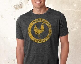 Vegan Shirt, Animal Rights Shirts, Chicken Shirt, Vegetarian Shirt, Animal Liberation Shirt, Friends Not Food Shirt, Vegan Tee, Huhn Tank