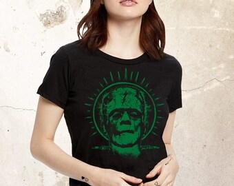 Frankenstein Shirt, Frankenstein Tshirt, Scary Monster Shirt, Horror Movie Shirt, Universal Monster Shirt, Women Frankenstein Tee, Hollywood