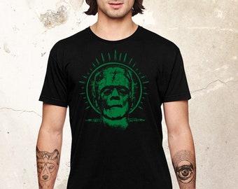 Frankenstein Tshirt, Frankenstein Shirt, Scary Monster Shirt, Horror Movie Shirt, Universal Monster Shirt, Hollywood Monster Shirt, Black