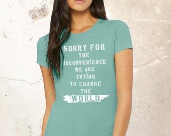 Women Activist Shirt, 2021 Shirt, Change The World Shirt, Statement Shirt, Black Lives Matter Shirt, No Justice No Peace Shirt, Inspiration
