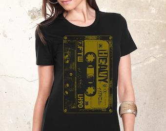 Heavy Metal Cassette Shirt, Rock Shirt, Metal Band Shirt, Heavy Metal Shirt, Vintage Rock Shirt, Metal Lovers Gift, Rock Shirt, Women Shirt