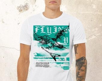 Guitar Hero Shirt, Rock Shirt, Heavy Metal Shirt, Musician Shirt, Band Shirt, Guitar Shirt, Bird Guitar Tshirt, Rock Tshirt, Guitar Player