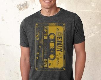 Heavy Metal Cassette T Shirt   Heavy Metal   Rock T Shirt   Vintage Rock T Shirt   Rock Band   Rock Tee   Heavy Metal Lover