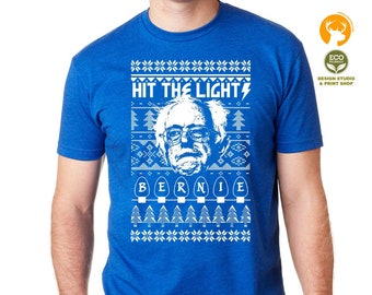 Bernie Sanders Christmas T shirt, Metallica Funny, Christmas Lights Tees, Christmas Gifts woman men X-mas shirt