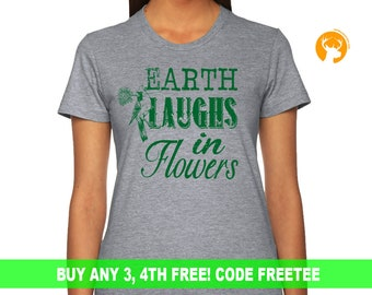 Plant Shirt with Bird, Plant Shirt Gift for Women, Gardening  Shirt, Farmer tshirt, Funny tee