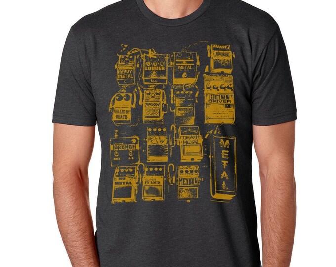 Guitar Pedals T Shirt | Guitarist Vintage Tee | Guitar Shirt | Music Lover| Musician|
