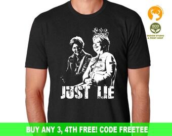 Elizabeth Warren Shirt, Hillary Clinton Funny Shirt, Nasty Women Shirt, Just Lie Shirt, The Resist Shirt, Feminist Shirt, She Persisted