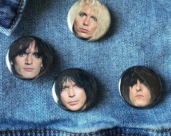 Motley Crue 80's buttons, Vintage Motley Crue, Glam Rock, 80's Heavy Metal Button, Hair Metal Buttons