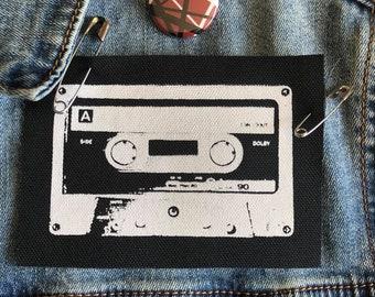 "Cassette Tape Patch, 80""s Patch, Music Patch, DIY Crafts"