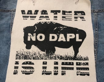Water Is Life No DAPL Back Patch, Protest Dakota Access Pipeline, Standing Rock Patch, Peaceful Protest Patch, Environment Patch, Mini