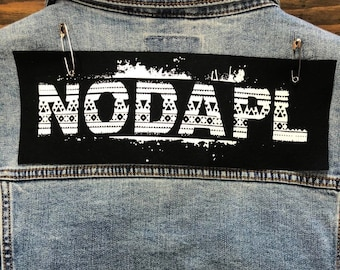 No DAPL Cloth Patch, Water Patch, Back Patch, Protest Patch, Punk Patch, Jacket Patch, Water Rights, Greenpeace