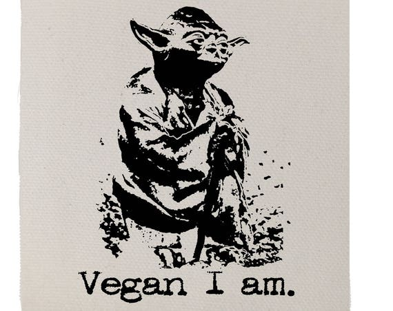 Yoda Star Wars Vegan Patch, Vegan Yoda, Vegan Patch