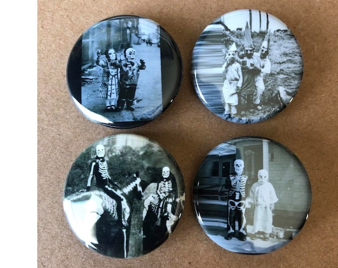 Vintage Creepy buttons, Scary Monster Button, Frankenstein Button, Halloween costumes, Horror Movie Buttons