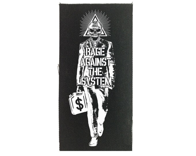 Rage Against The System Patch, Punk Patch, Sew On Patch, Political Patch, Resist Patch, Canvas Patch, Protest Patch, Black Patch, BLM Patch