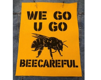 Save The Bees Back Patch, Honey Bee Patch, Bee Lovers Gift, Beekeeper Patch Gift, Bumble Bee Patch, Beecareful Patch, Save The Animals Patch