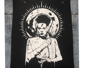 Monster Patch, The Bride Of Frankenstein Patch, Back Patch, Scary Patch, Sew On Patch, Monster Bride Patch, Gothic Patch, Movie Lovers Gift