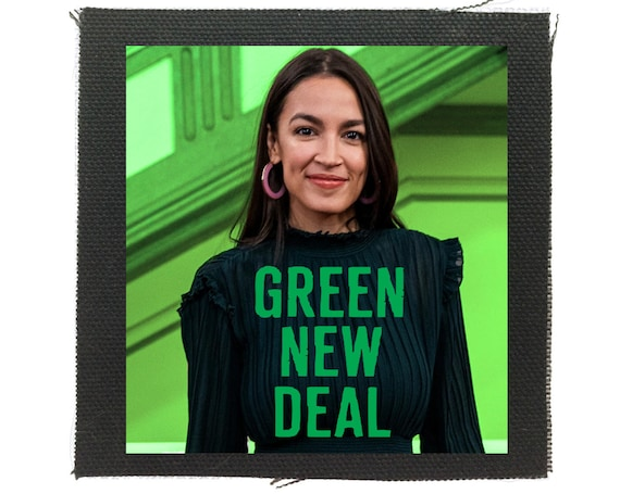 Alexandria Ocasio Cortez Patch, Green New Deal, Climate Change Patch, AOC Patch, Feel The Bern Patch, Bernie Sanders Patch