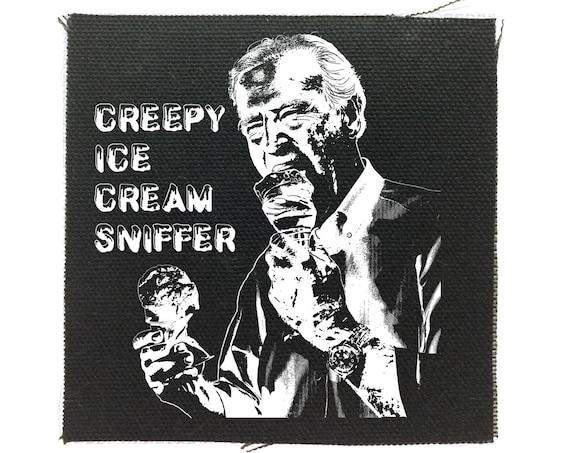 Funny Joe Biden Small Patch, Creepy Joe, 2020, Ice Cream