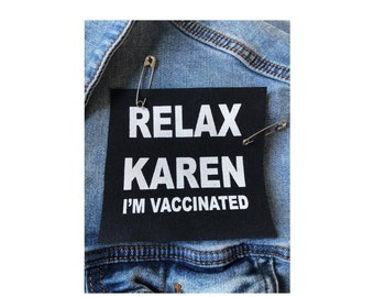 Vaccinated Funny Patch, Punk Patches, I Got Vaccinated Patch, Proudly Vaccinated Patch, Nurse Vaccinated Patch, Fully Vaccinated Patch,