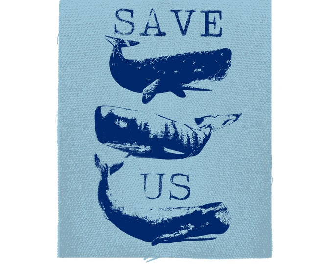 Whale Patch, Save The Whales Patch, Gift, Friends Not Food, Save On The Ocean, Save The Planet
