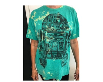 Star Wars r2d2 unisex tee, Upcycled Star Wars, T-SHIRT, pre-owned