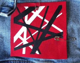 Van Halen Patch, Eddie Van Halen, Guitar Patch, Denim Jacket Patch, Punk Patch, Musician Gift, 80's Music Patch, Sew On Patch,