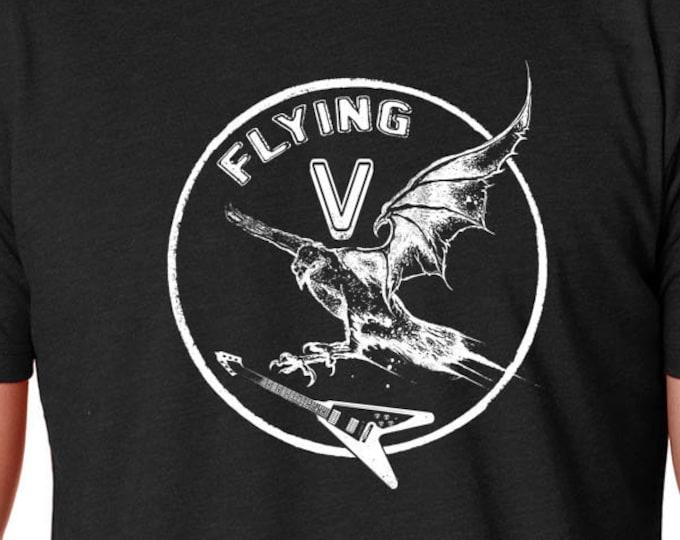 Electric Guitar T Shirt | Vintage Guitar T Shirt | Flying V Guitar | Rock T Shirt | Guitar T Shirt | Rock Band | Rock Tee | Guitar Player |