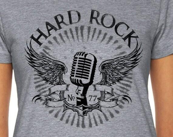 Microphone T Shirt | Singer Shirt | Rock T Shirt | Musician T Shirt | Rock Band | Rock Tee | Singer Gift | Wing Tattoo Gift