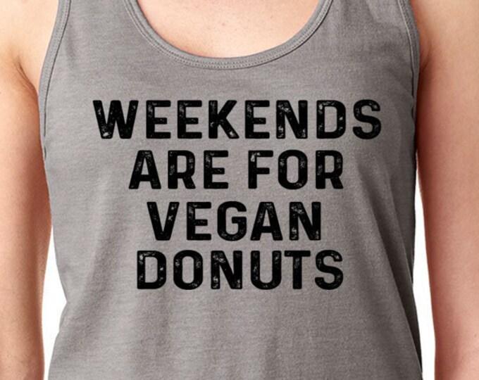 Vegan Donuts Funny  Donuts Vegan Shirt Mens Women's Ladies Gift